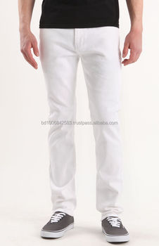 989b9589c6c21c Men's White Chino Pants,100% Cotton Slim Fit Pants - Buy Mens White ...