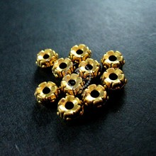 5mm vintage antiqued gold flower alloy beads spacer,stopper DIY beading supplies 3996012
