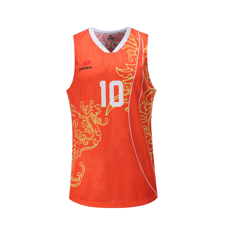 Latest Sublimated Printing Images Basketball Jersey Uniform Pictures Design Color Orange