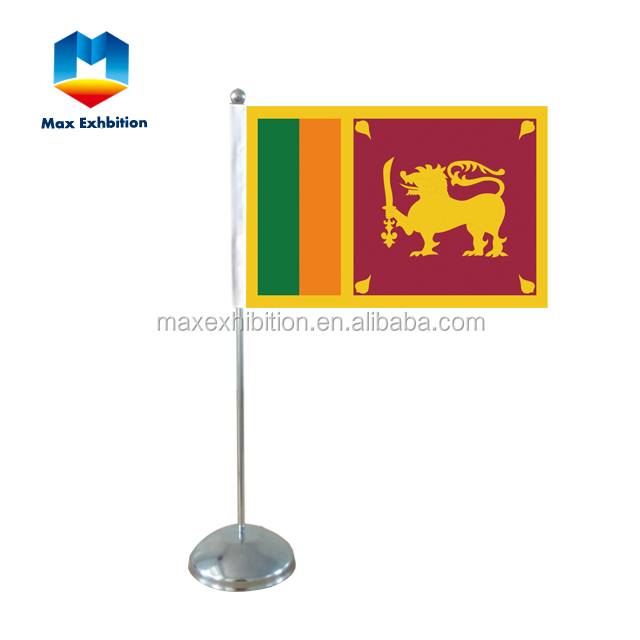 China manufacture custom printing new products table flag stand