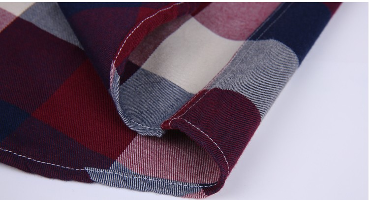 Wholesale polyester cotton mens casual dresses chambray for Cotton polyester flannel shirts