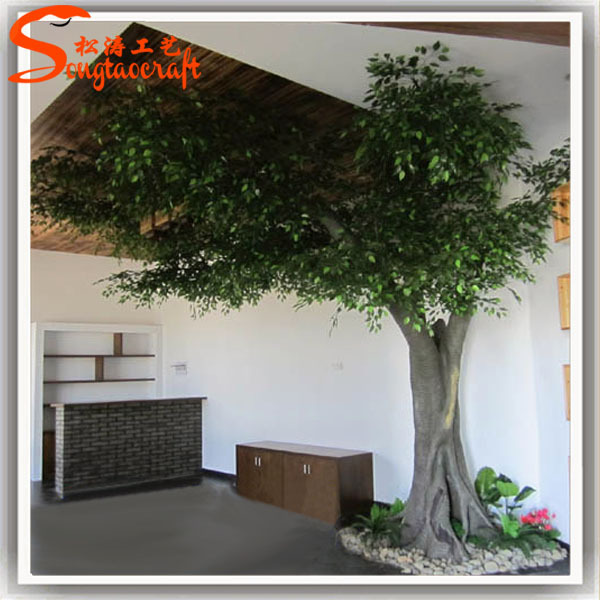 Decorative Artificial Plants Live Ficus Tree Floor Living Room Artificial  Ficus Lush Greenery Ficus Part 11