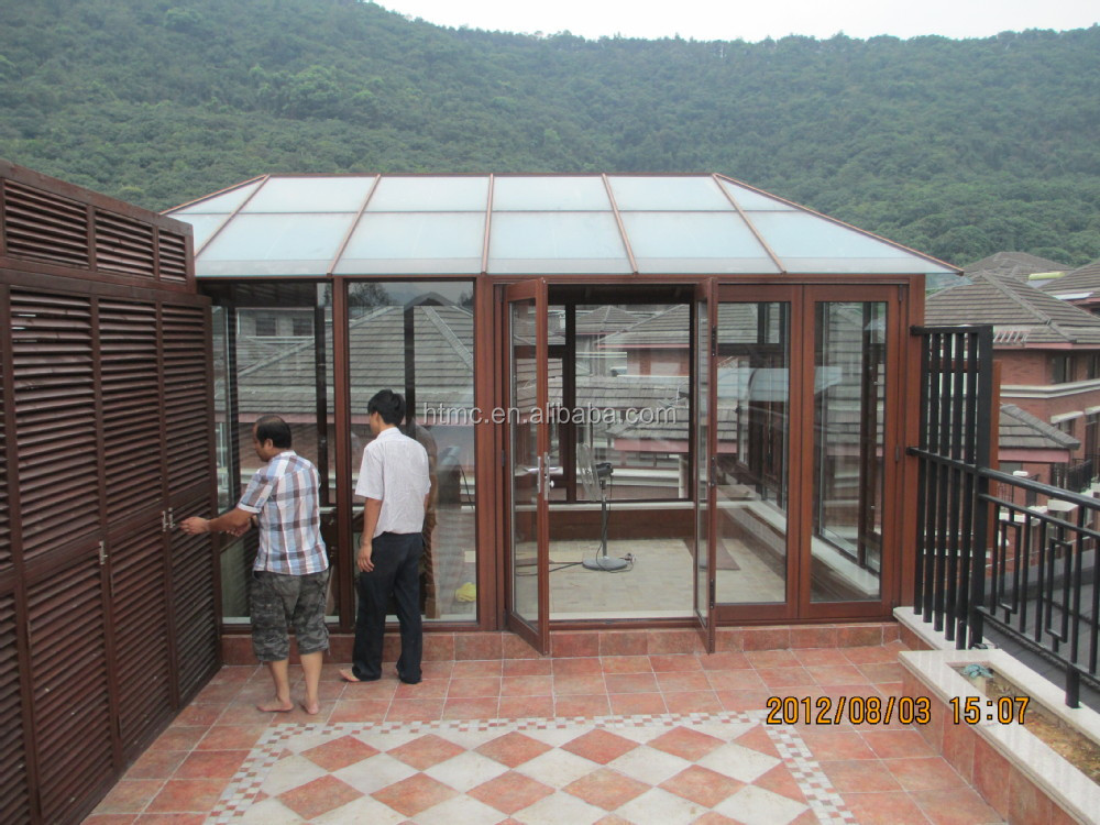 Aluminum low cost swimming pool retractable roof