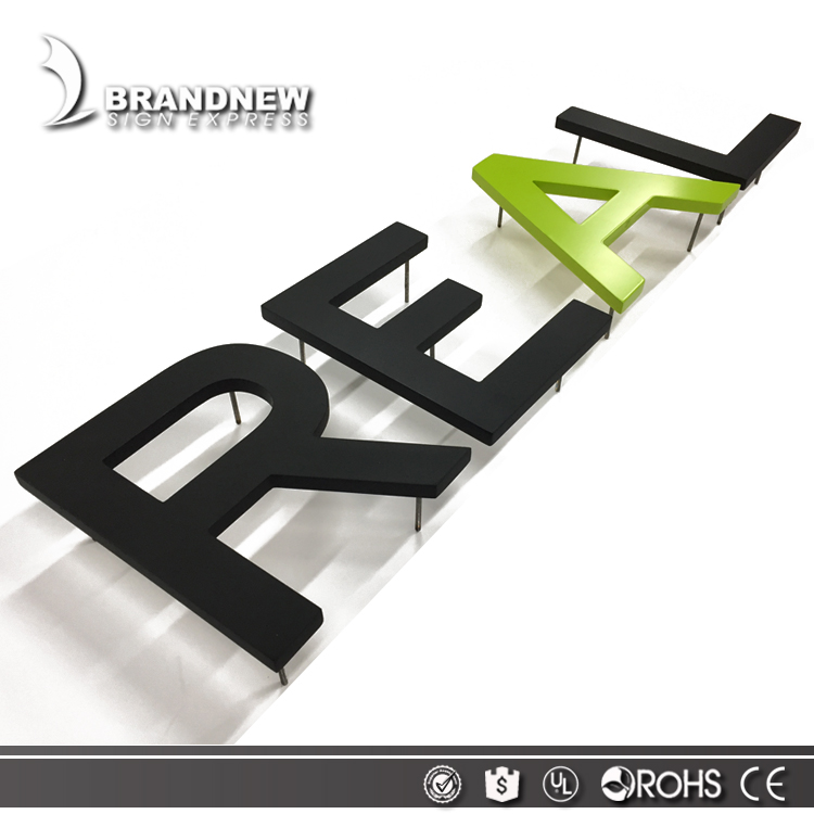 Factory metal 3d outdoor use laser cut seamless weld stainless steel letters signs