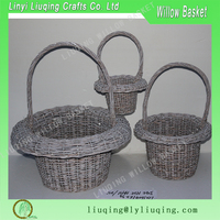 european style 3 sets willow fruit basket gift basket cheap wicker baskets for fruit