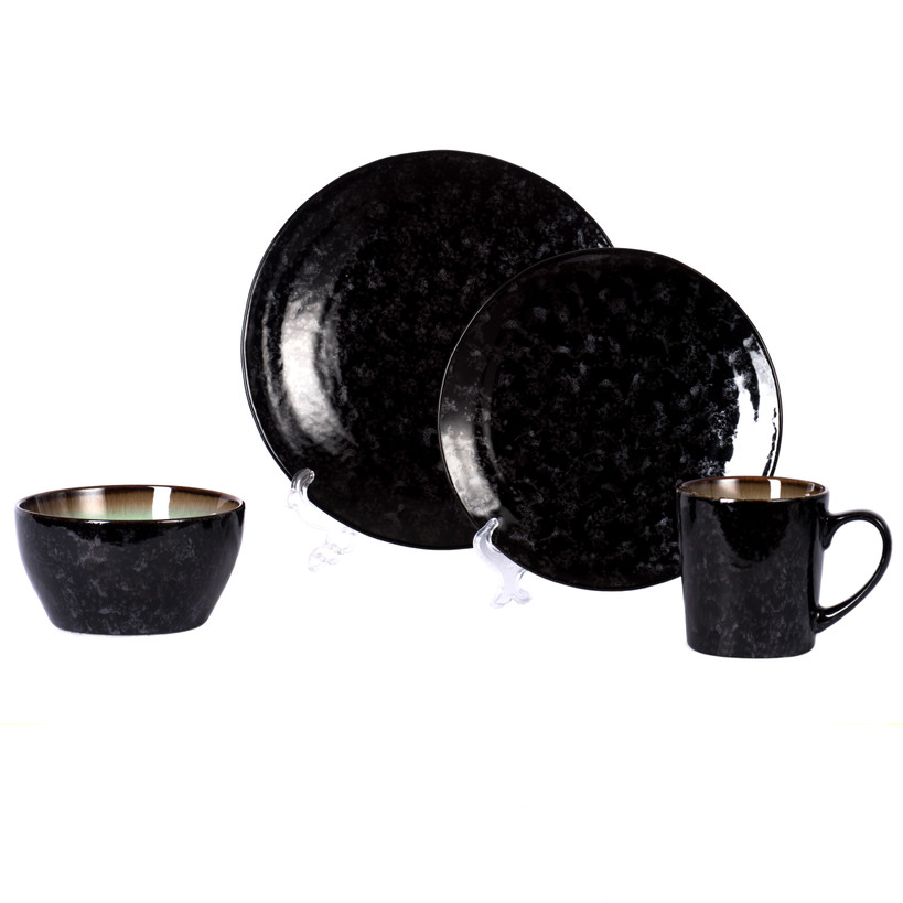 Ceramic Round Shape Solid Matte Black Dinnerware set for restaurant stoneware dinner set  sc 1 st  Alibaba & Ceramic Round Shape Solid Matte Black Dinnerware Set For Restaurant ...