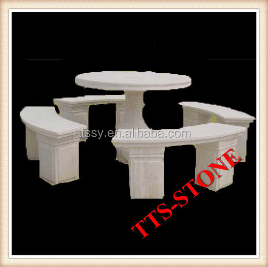 Stone Marble Table for Antique Garden