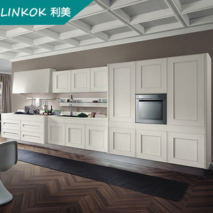 High quality White kitchen cabinet furniture design solid wood kitchen design