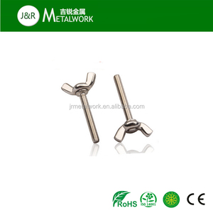 A2-70 stainless steel SS304/SS316 round head butterfly wing screw DIN316
