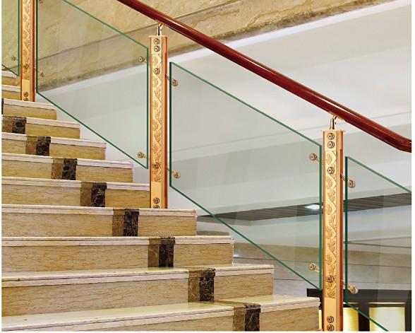 Xy 14 0049 dise os balc n barandilla de vidrio de for Pasamanos de aluminio