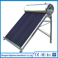 Manufacture gas heaters stainless steel pipe Unpressurized All Stainless Steel Compact Solar Water Heating System