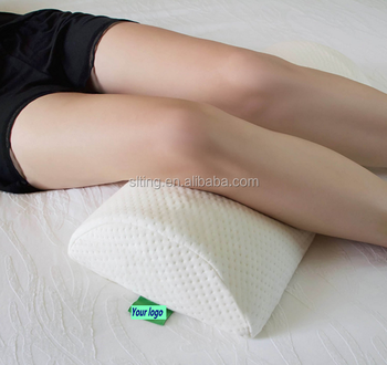 back pain relief halfmoon bolster gel pillow best support for sleeping on side or