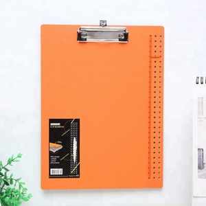 Solid colorful clip file low price a4 pp document folder