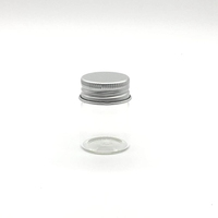 clear transparent jar 15ml 20ml 30ml 50ml 80ml 100ml 120ml 150ml to 500ml with aluminum cap container
