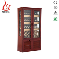 Two-Door Mahogany Red Wine Cooler/Chiller