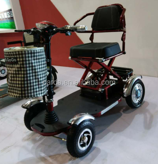 Battery operated Fatable 4 wheel mini bus for elderly/elderly convernient mini bus for sale