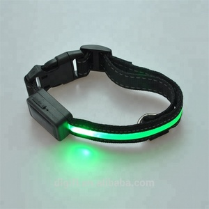 Nylon solar powered decorative led flashing pet dog collar