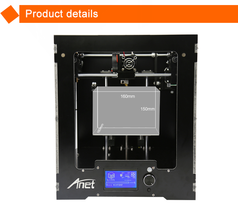Rohs certificated digital fdm kit 3d metal printer for abs/pla/wood plastic filament