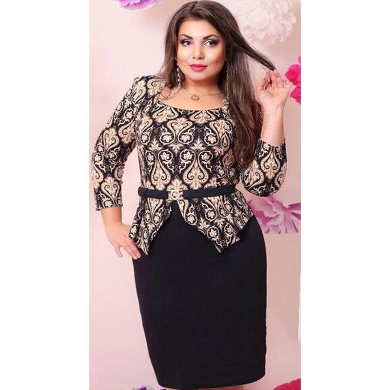 f5ef623d0d5 Купить новые платья для полных женщин в интернет магазине с бесплатной  доставкой