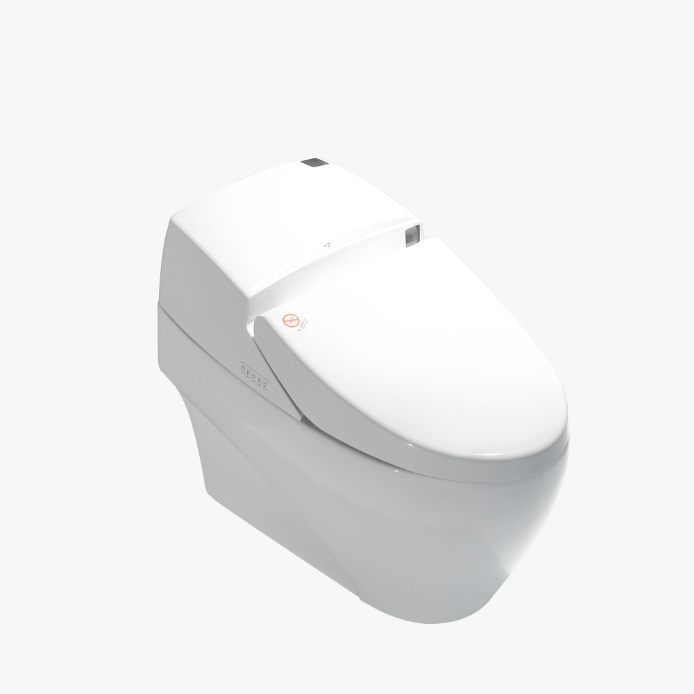 Ceramic raised smart toilet seat without arm with CE certificate