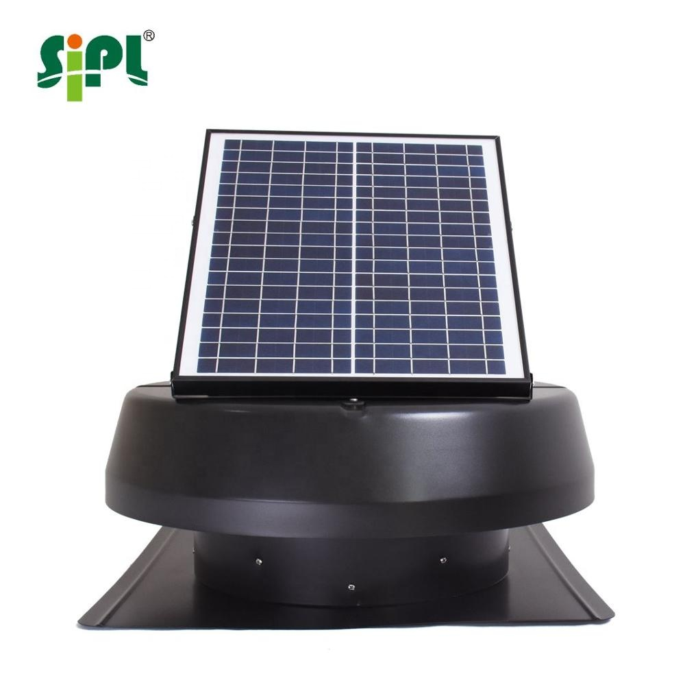 Solar vent fan best selling 14 inch; purpose solar dc ventilation fan 18V solar roof exhaust fan