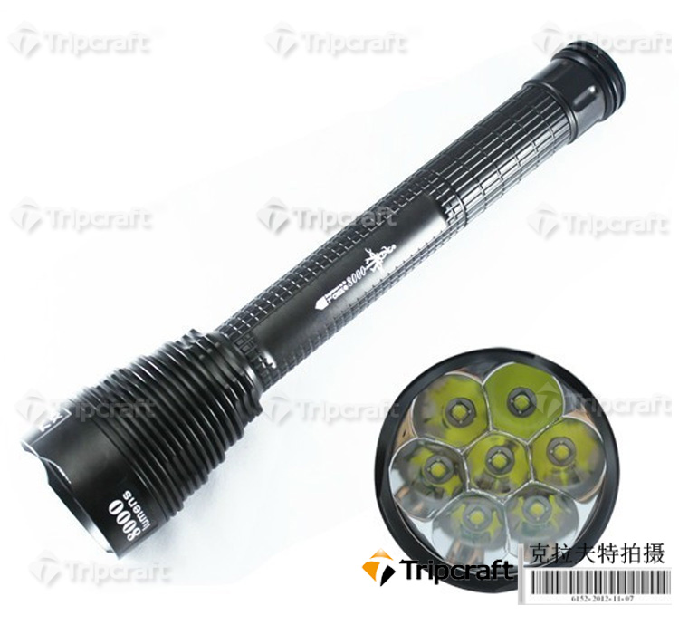 Chinese factory direct waterproof 8000LM LED Flashlight/ OEM/ODM Manufacturer with good quality and reasonable price