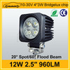 High brightness car accessory 12w spot/flood led work light