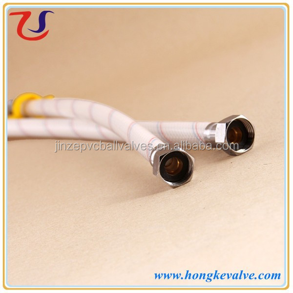 Hot water 15mm plastic pvc waterleiding met messing moer for Pvc for hot water