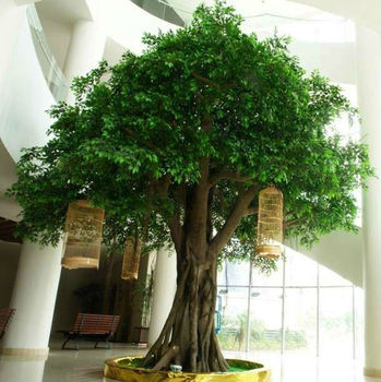 Best seller cheap 2 - 8 meters artificial big ficus trees,artificial fake banyan ficus tree on sale