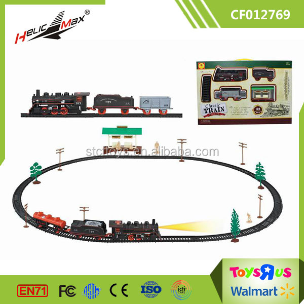 Classic Train Track Set Learning Toy old train, house, diy railway Toys for Toddles and Kids Educational