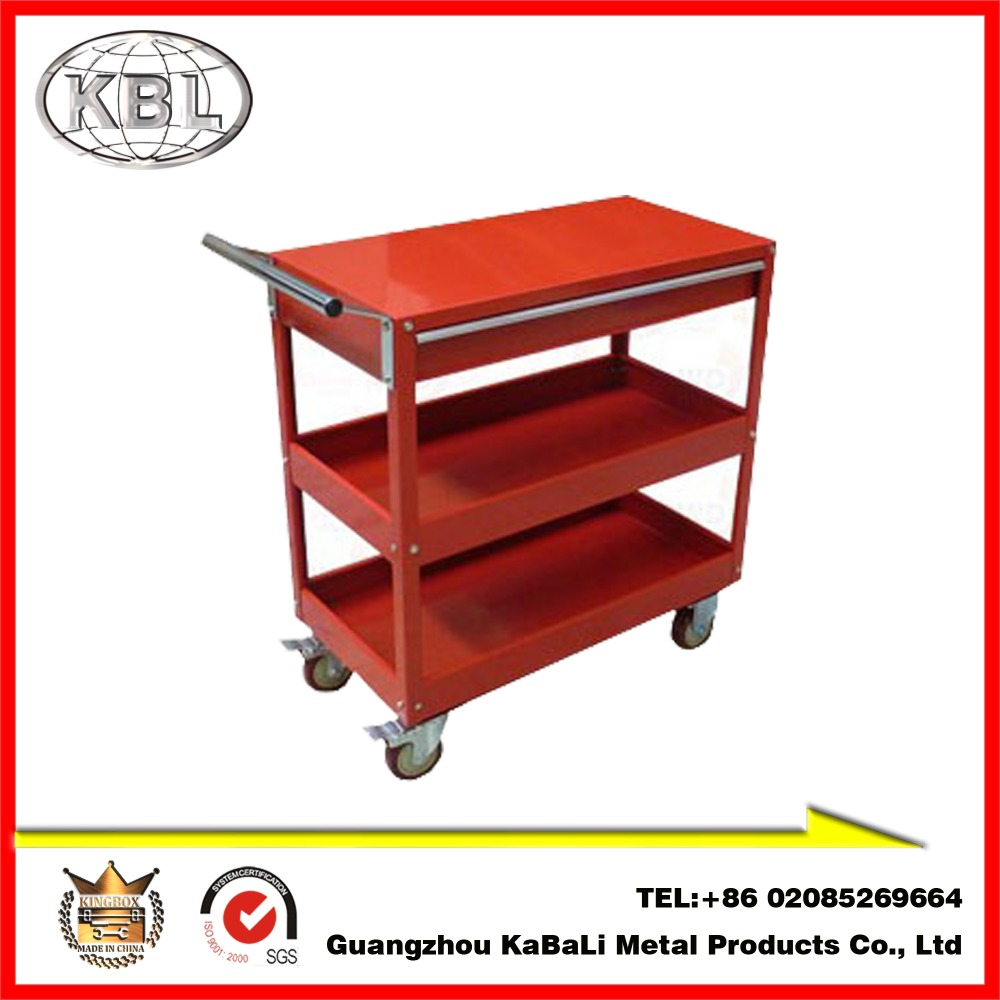 New Design Custom Metal Rolling Tool Cabinet/Toll Trolley with Drawers amd Wheels(KBL-T25)(ODM/OEM)