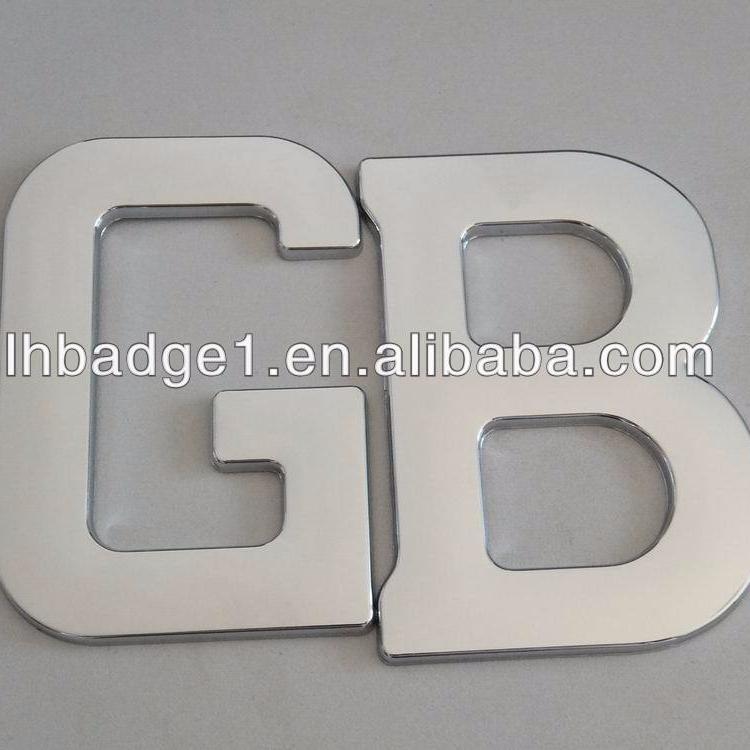 Abs Letterschromed Badgescar Logos Buy Vip Chrome Car Badge