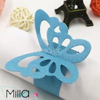 Bulk Wholesale Paper Butterfly Napkin Ring Blue