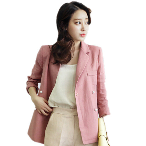 cf31ee3981642 Get Quotations · 2015 Spring Summer New Arrival Linen double-breasted blazer
