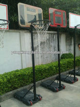 adjustable kids tempered glass portable basketball backboard