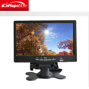 Black 4 or 5 Wire Wide Screen 7 Inch Small Touch Screen Monitor