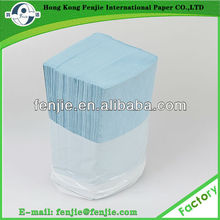 Poly-packing recycled eco-friendly multifold blue hand tissue