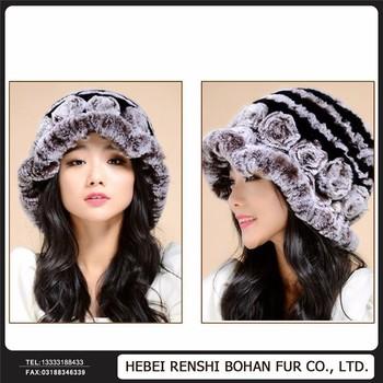Beaver Rabbit Hat In Winter Female Leather Warm Hat Rabbit Fur Hats - Buy  Warm Hat Cap 2138680ebc6