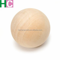Unfinished Wooden Ball 2.5 inch Sphere