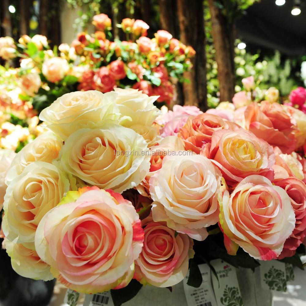 25 Klasik Dekoratif Bunga Mawar Sutra Dekorasi Rumah Buy Product