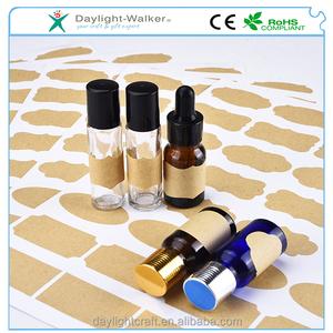 7e9cc85d4662 Mudder Fancy chalkboard Kraft Paper Essential Oil Bottle Stickers Labels