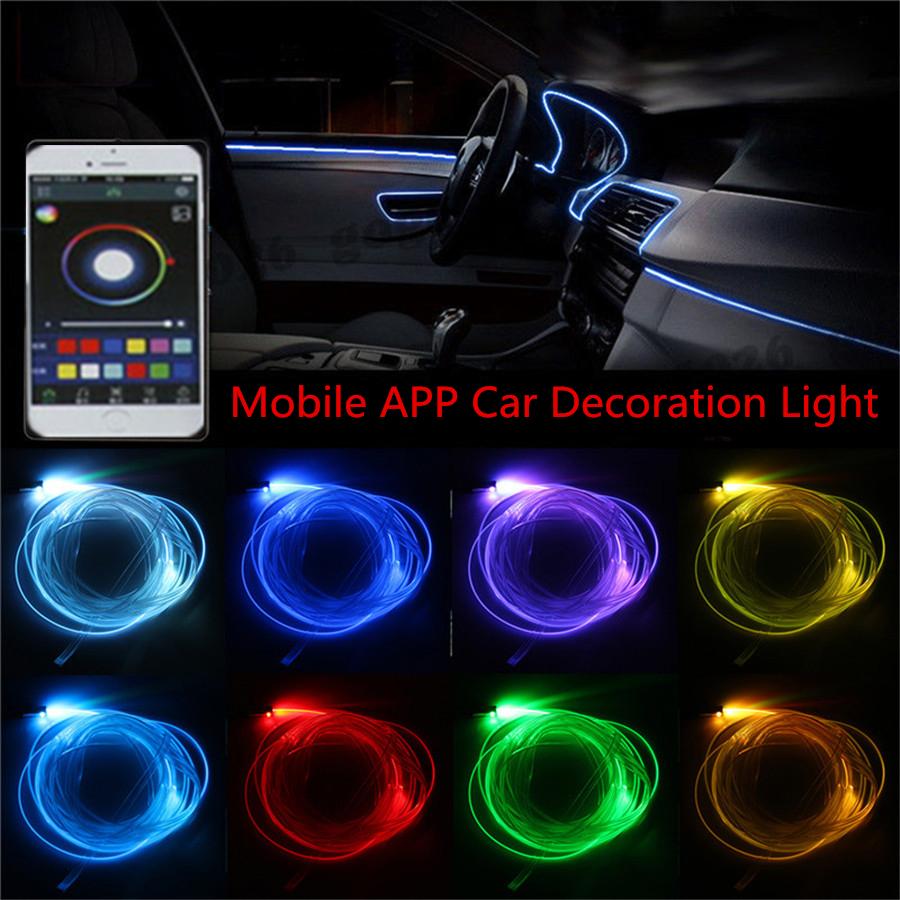 Neon De Decoration Interieur feux, ampoules et clignotants ningbao 3m car interior light