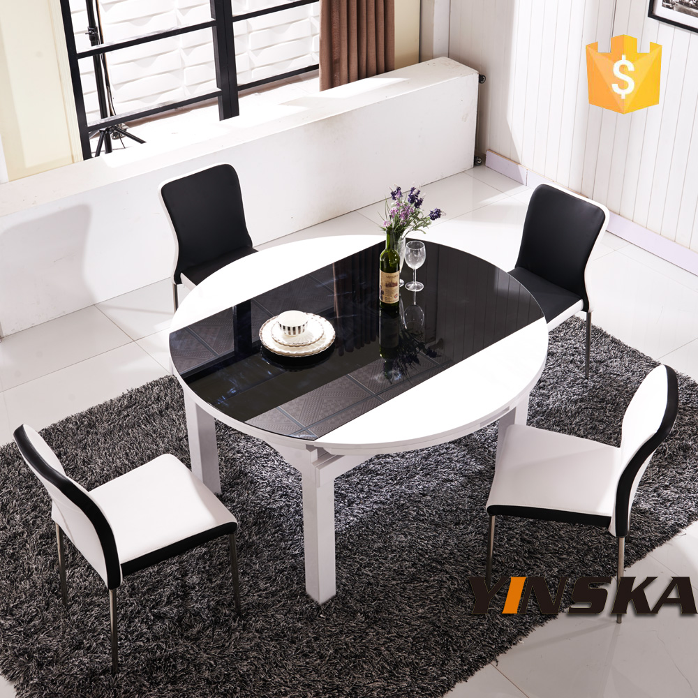 8 seater extendable round dining table