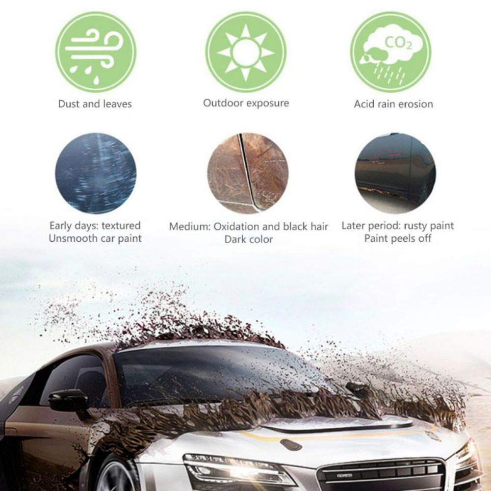 Nano Car Ceramic Coating Kit-High Gloss 9H Nano Car Liquid Ceramic CoatingAnti-Scratch Anti-fading