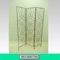 Newly Folding Wrought Iron Room Screen Dividers for Home Decoration