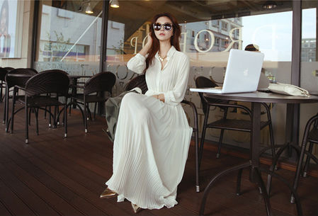 Maxi dress korean fashion