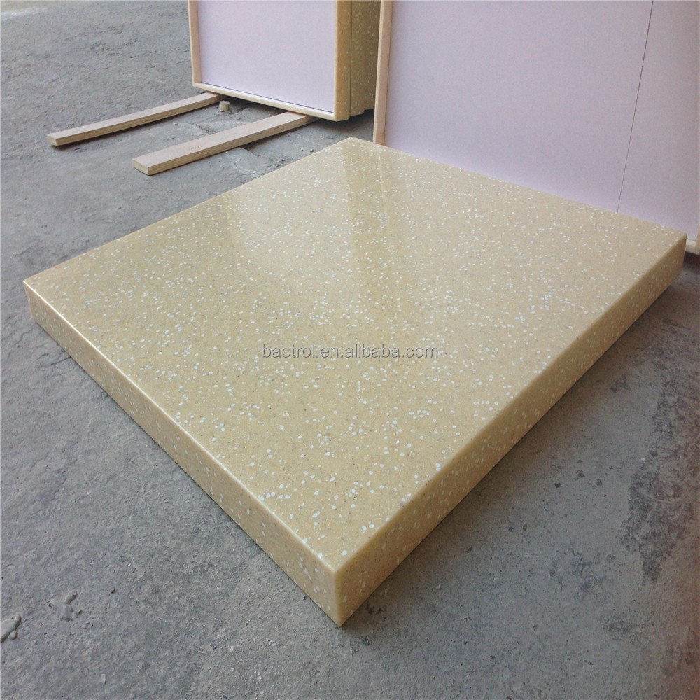Various Edge Design For Cheap Acrylic Solid Surface Marble Inlay Table Top