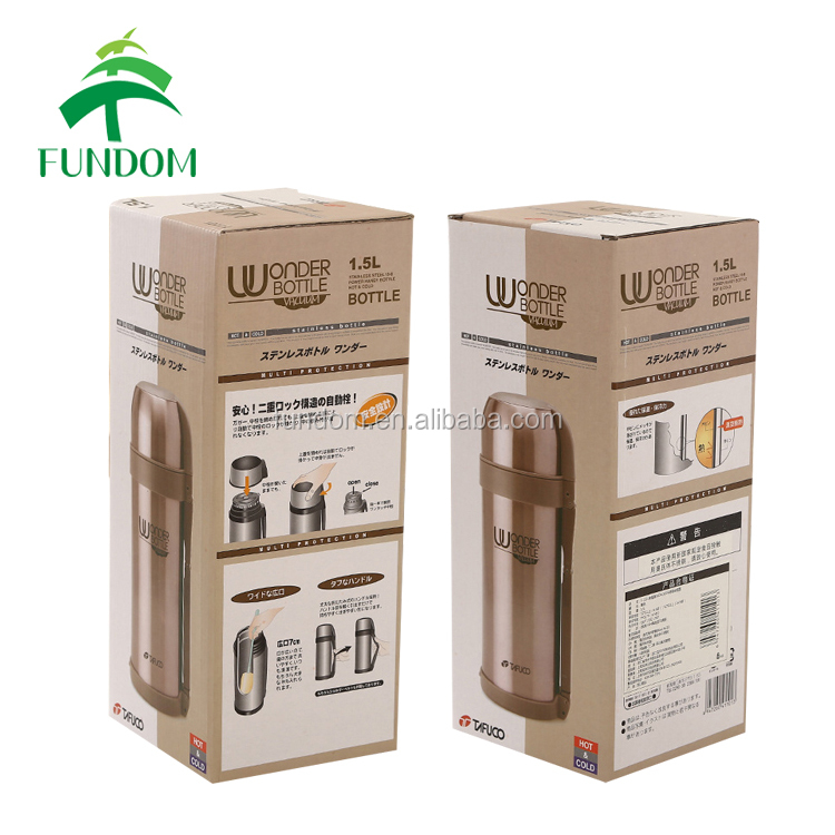 custom made corrugated paper single fancy beer coffe vacuum mug packaging box for packing and shipping