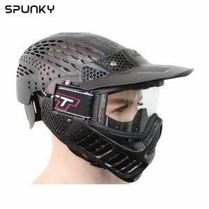 High Quality Full Coverage Paintball Helmet Mask with Dual Goggle
