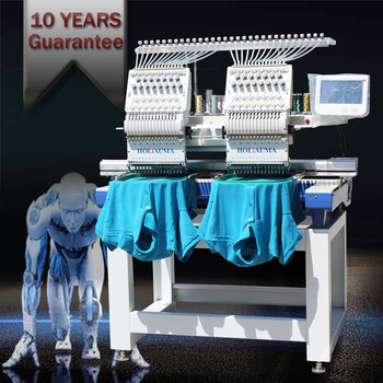 HOLIAUMA 15 color two head computer embroidery machine industrial with 200 designs for kenya,cap,baseball bag,T-shirt,3D,flat